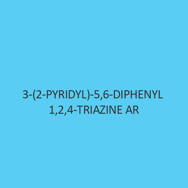 3 (2 Pyridyl) 5 6 Diphenyl 1 2 4 Triazine AR (Pdt)
