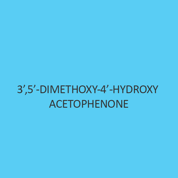 3 5 Dimethoxy 4 Hydroxy Acetophenone (Acetosyringone)