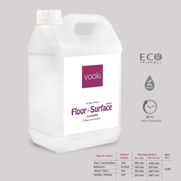VOOKI Floor Hard Surface Cleaner 5 Liters