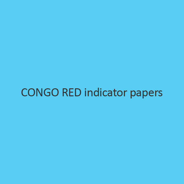 Congo Red Indicator Papers