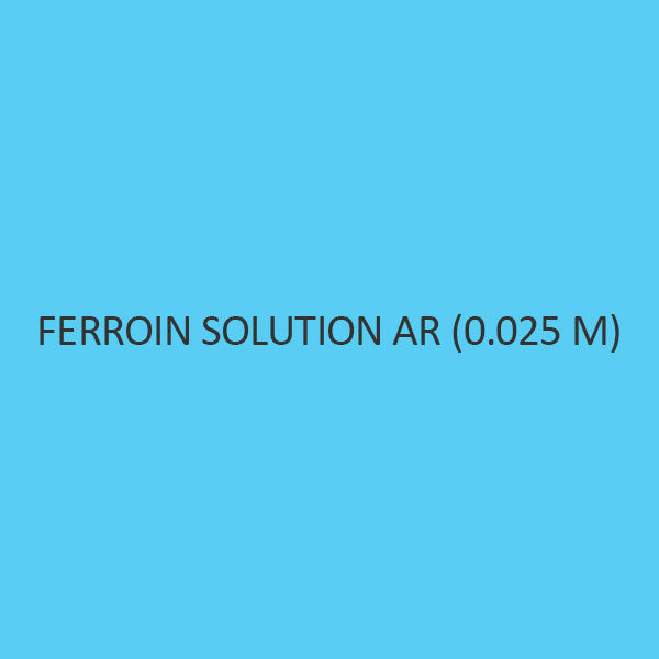 Ferroin Solution AR (0.025 M) (Redox Indicator)