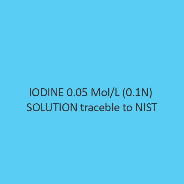 Iodine 0.05 Mol Per L (0.1N) Solution Traceble To Nist