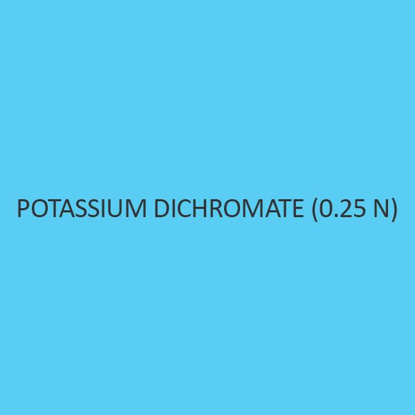 Potassium Dichromate (0.25 N)