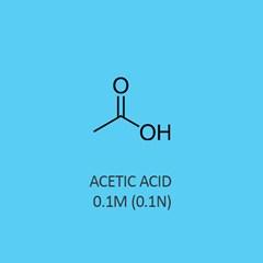 Acetic Acid 0.1M 0.1N Standardized Solution