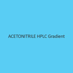Acetonitrile HPLC Gradient