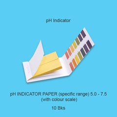 pH Indicator Paper (specific range) 5.0 to 7.5 (with colour scale)