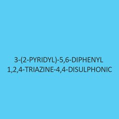 3 (2 Pyridyl) 5 6 Diphenyl 1 2 4 Triazine 4 4 Disulphonic