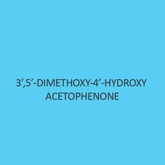 3 5 Dimethoxy 4 Hydroxy Acetophenone (Acetosyringone)