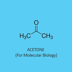 Acetone for molecular biology