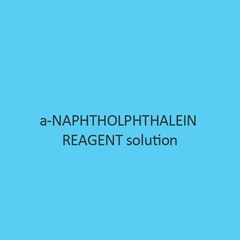 a Naphtholphthalein Reagent Solution