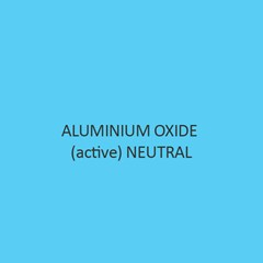 Aluminium Oxide Active Neutral