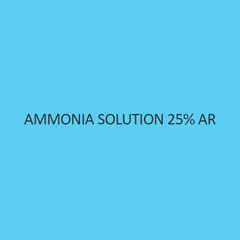 Ammonia Solution 25 Percent AR