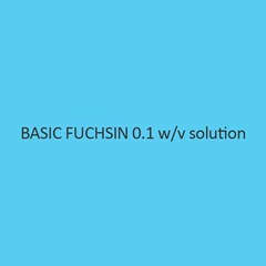 Basic Fuchsin 0.1 W Per V Solution