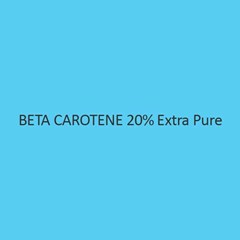 Beta Carotene 20 Percent Extra Pure