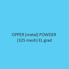 Copper Metal Powder 325 Mesh El Grade