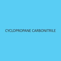 Cyclopropane Carbonitrile