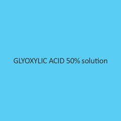 Glyoxylic Acid 50 Percent Solution