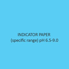 Indicator Paper (specific range) pH 6.5 9.0 (with colour scale)