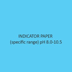 Indicator Paper (specific range) pH 8.0 10.5 (with colour scale)