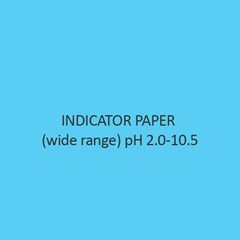 Indicator Paper (wide range) pH 2.0 10.5 (with colour scale)