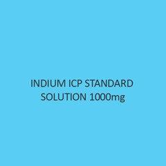 Indium ICP Standard Solution 1000mg Per L in Nitric Acid