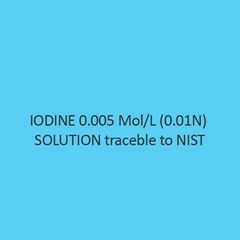Iodine 0.005 Mol Per L (0.01N) Solution Traceble To Nist