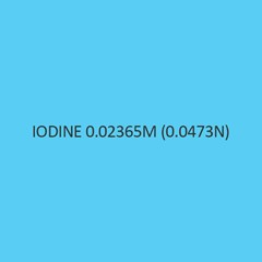 Iodine 0.02365M (0.0473N)