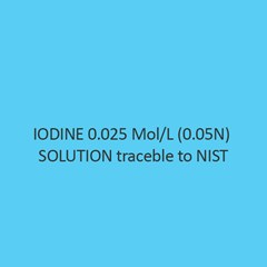 Iodine 0.025 Mol Per L (0.05N) Solution Traceble To Nist
