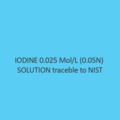 Iodine 0.025 Mol Per L (0.05N) Solution Traceble To Nist