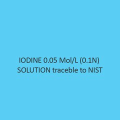 Iodine 0.05 Mol Per L (0.1N) Solution Traceble To Nist