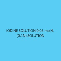 Iodine Solution 0.05 Mol Per L (0.1N) Solution For 500Ml