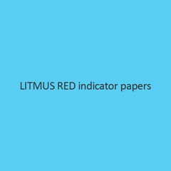 Litmus Red Indicator Papers