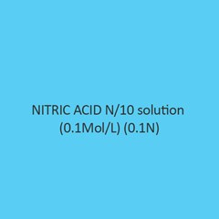 Nitric Acid N Per 10 Solution ((0.1Mol Per L) (0.1N) Liquid