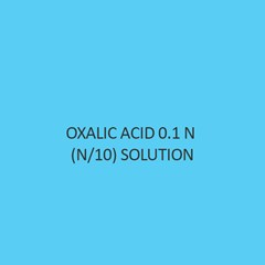 Oxalic Acid 0.1 N (N Per 10) Solution