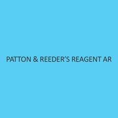 Patton & ReederS Reagent AR