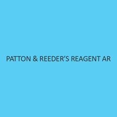 Patton & ReederS Reagent AR