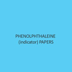 Phenolphthaleine (Indicator) Papers