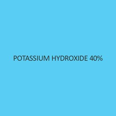 Potassium Hydroxide 40 Percent Solution (For Analysis)