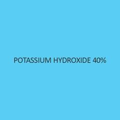 Potassium Hydroxide 40 Percent Solution (For Analysis)