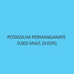 Potassium Permanganate 0.002 Mol Per L (0.01N)