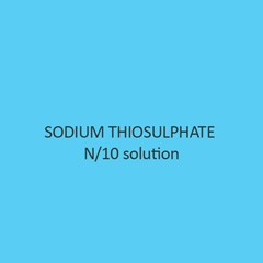 Sodium Thiosulphate N per 10 solution
