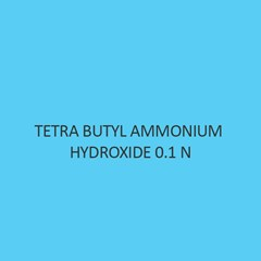 Tetra Butyl Ammonium Hydroxide 0.1 N in isopropanol