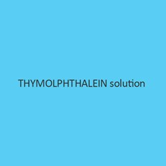 Thymolphthalein solution