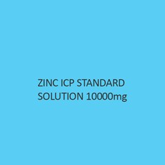 Zinc ICP Standard Solution 10000mg per L in Nitric Acid